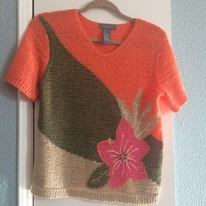 KORET floral sweater top-Like new-Perfect for fall